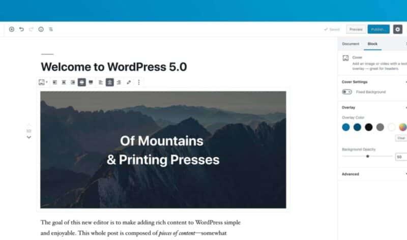 WordPress 5.0 – try it before you buy it!
