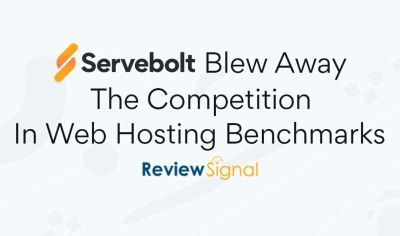 Top Tier Performer In All Competing Tiers — Servebolt Blew Away The Competition In Web Hosting Benchmarks