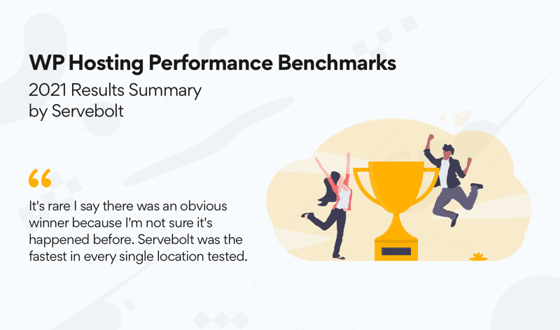2021 WP Hosting Benchmarks Awards Servebolt Only Top Tiers Once Again