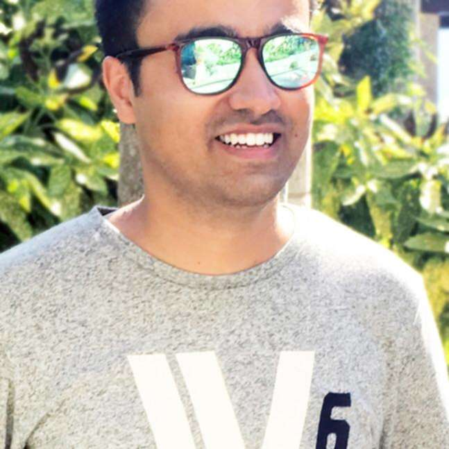 Photo of Bhanu Ahluwalia with sunglasses